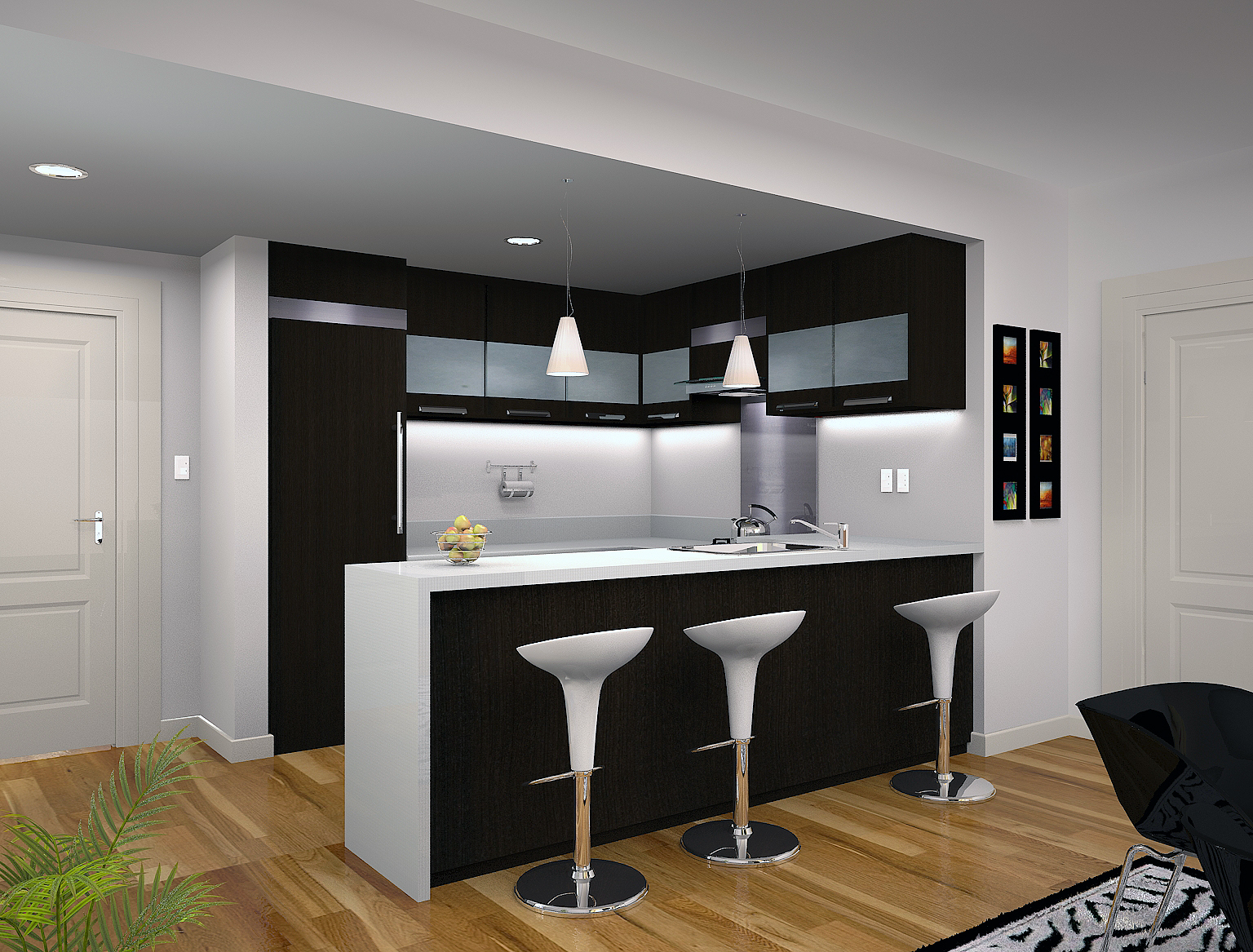Angelo aguilar interior design portfolio kitchen condo for Small kitchen designs for condos
