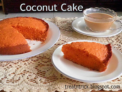 Coconut Cake Recipe @ http://treatntrick.blogspot.com