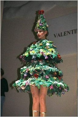 [Christmas tree dress]