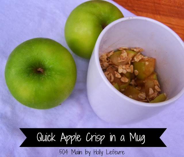 Quick Apple Crisp in a Mug by 504 Main