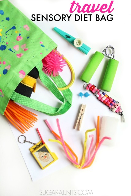 Travel Sensory Diet Bag for on-the-go-sensory needs