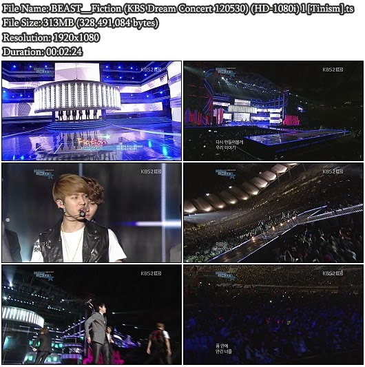 Download Perf BEAST (B2ST / 비스트) - Fiction (KBS 2012 Dream Concert 120530) (Full HD 1080i)