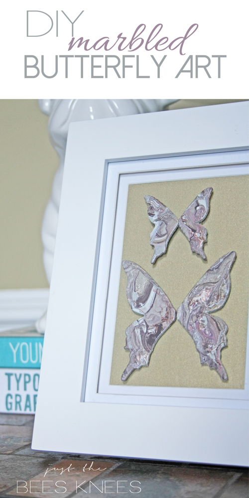 DIY Marbled Butterfly Art // Just The Bees Knees