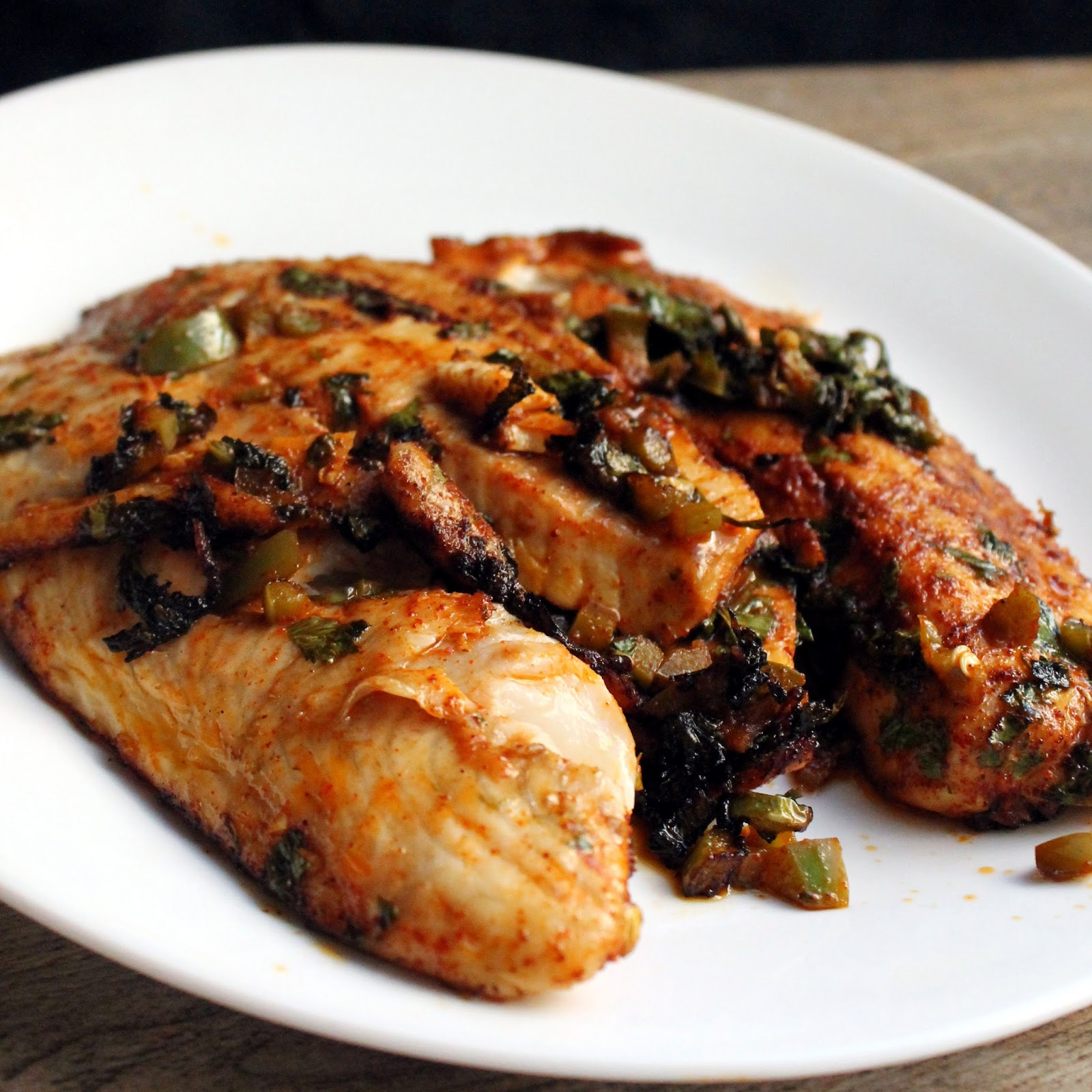 Spicy marinated grilled tilapia for Marinade for fish