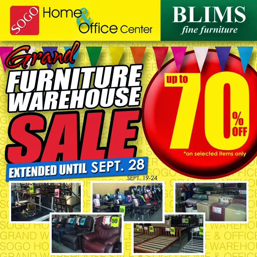 Manila Shopper Sogo Blims Furniture Warehouse Sale Sept 2013