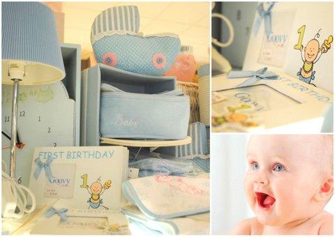 Decoración bebé azul