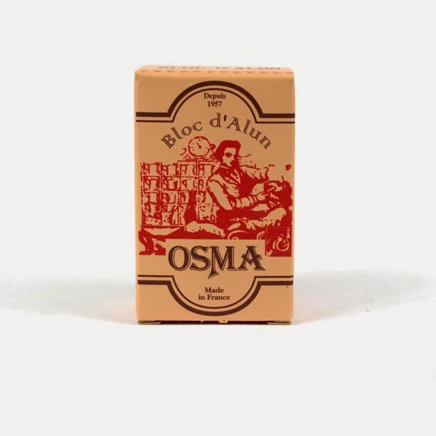 Osma Alum Block for soothing nicks after shaving