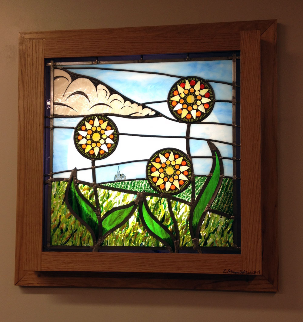 stained glass landscape panels