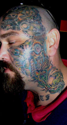 Biomechanical Tattoo Ideas for Men