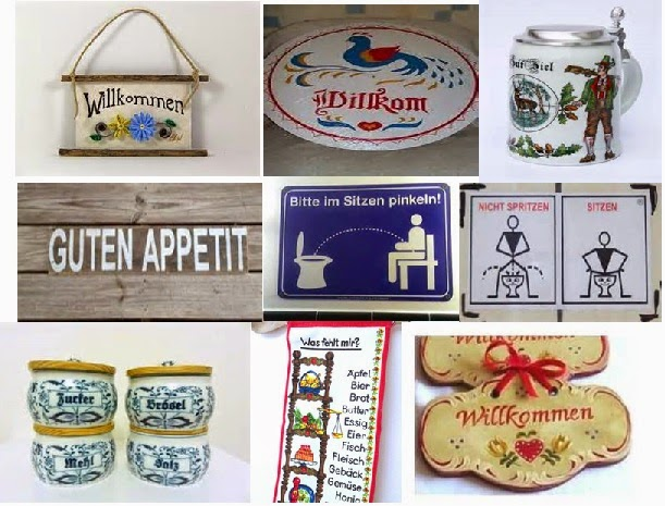 I suggest a German revival by bringing out those collector plates and beer  steins  put up that little quirky kitchen sign in German saying  Guten  Appetit. Gorkow com German American Ancestry  Speak No German in America