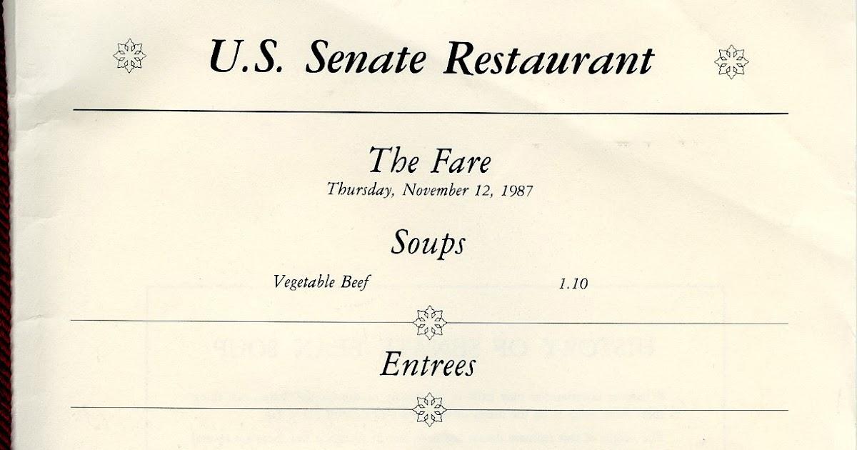 U.S. Senate Restaurant   Menu Nomad