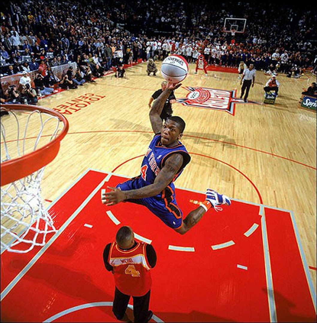 basketball stars picture Nate Robinson Jump Over Spud Webb Dunk