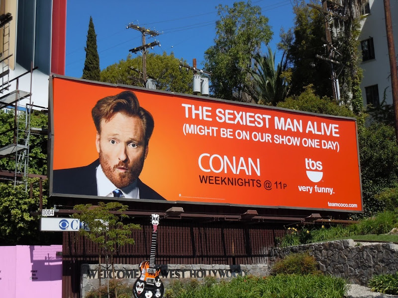Sexiest man alive Conan TV billboard