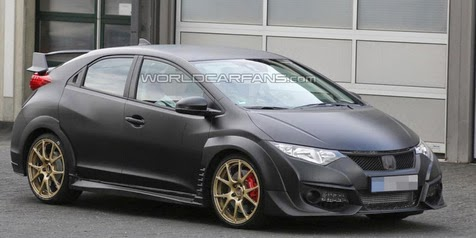 Production version of the Honda Civic Type R 2015