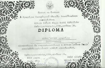 Székelyudvarhelyi nyugdíjasok önsegélyző pénztára - Diploma.