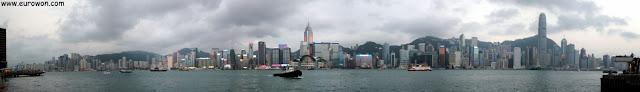 Skyline de Hong Kong de día