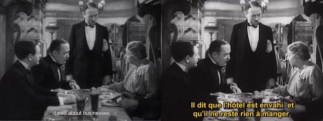 Zwei Screenshots, der Linke: dated about business
