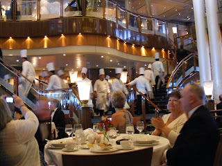 Parade of Chefs in the Britannia Restaurant by Mark Fitzgerald