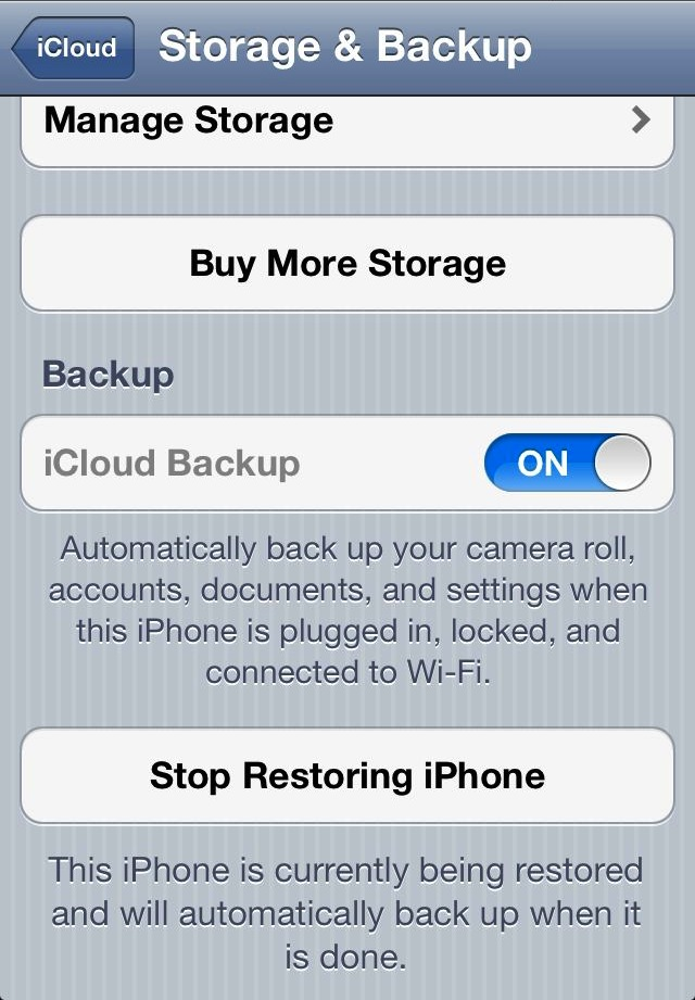 how to get icloud backup on new phone