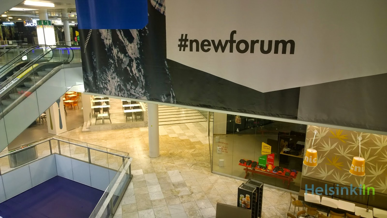 New level at Forum Kauppakeskus