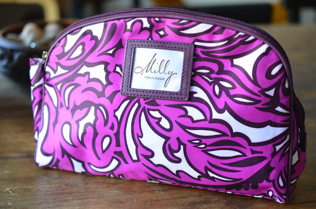 milly for clinique makeup bag