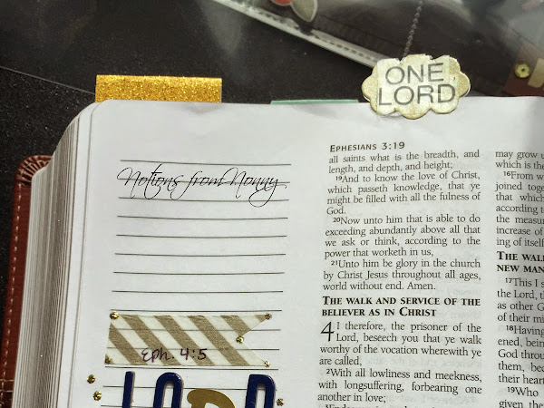 Journaling Bible | Ephesians 4:5