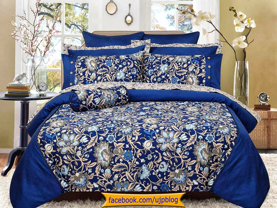 New pakistani bed sheet designs pak fashion for New bed designs images