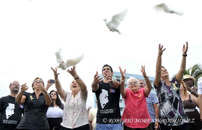 Campaña por Los Cinco en La Habana