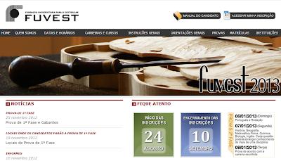 INSCRIÇÕES FUVEST 2013-2014 | WWW.FUVEST.COM.BR