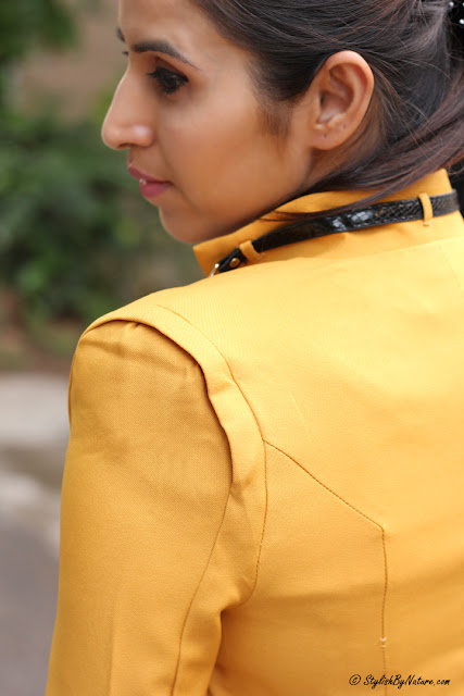 Mustard Blazer, Slim fit Blazer, Yellow Blazer