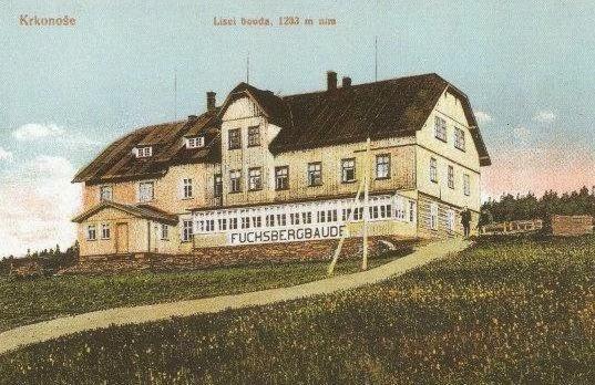 Liščí bouda na staré pohlednici