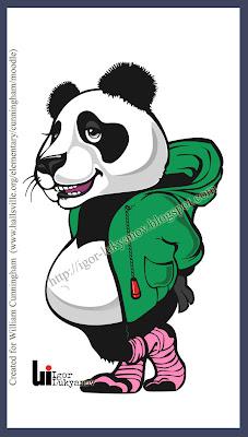 dessin panda mascotte