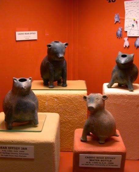 Bear effigy jars