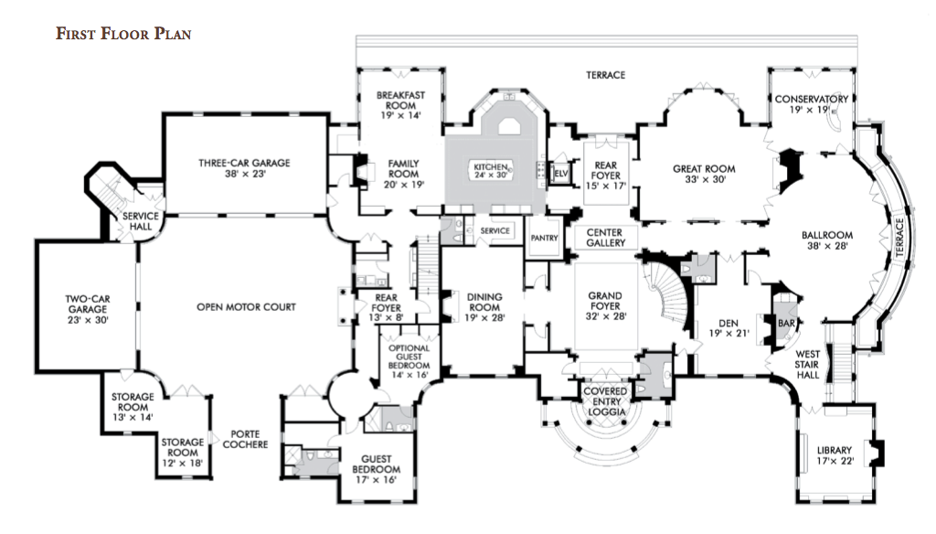 28+ [ floor plan of a mansion ] | 18 390 sq ft second floor huge