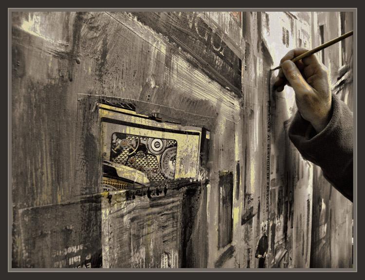 ernest descals artista pintor pintor trabajo pintando