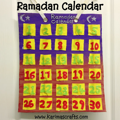 Ramadan Calendar 30 days of Ramadan Crafts Tutorial