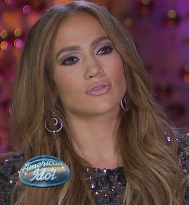 american idol jennifer lopez makeup. Lopez on American Idolquot;