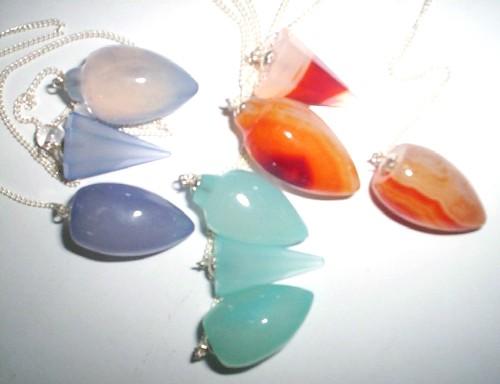 Agate Onyx  Pendulums