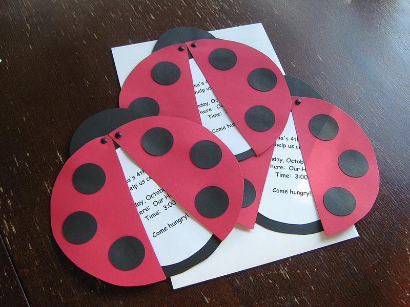 Rindy Mae Ladybug Invitations Banner
