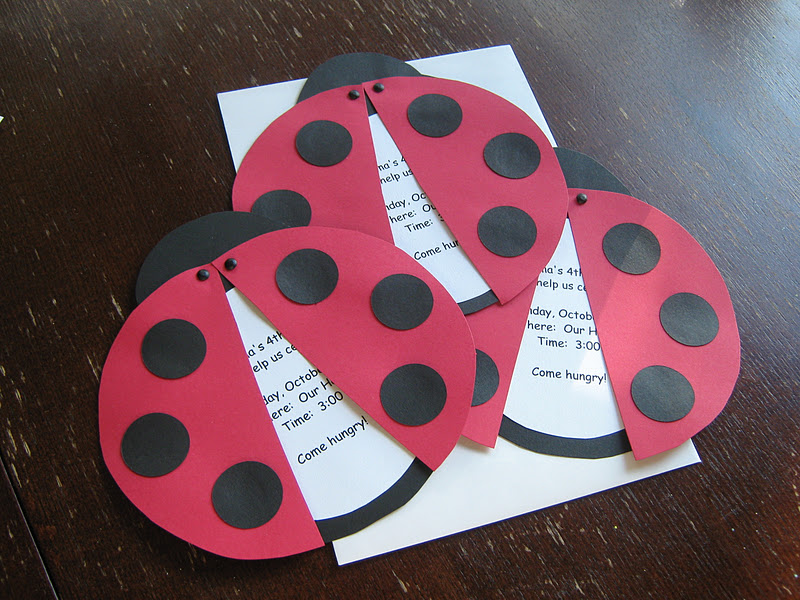 Rindy Mae Ladybug Invitations Banner – Ladybug Party Invitations