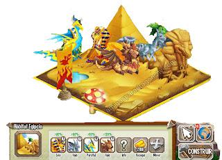 imagen del habitat egipcio de dragon city