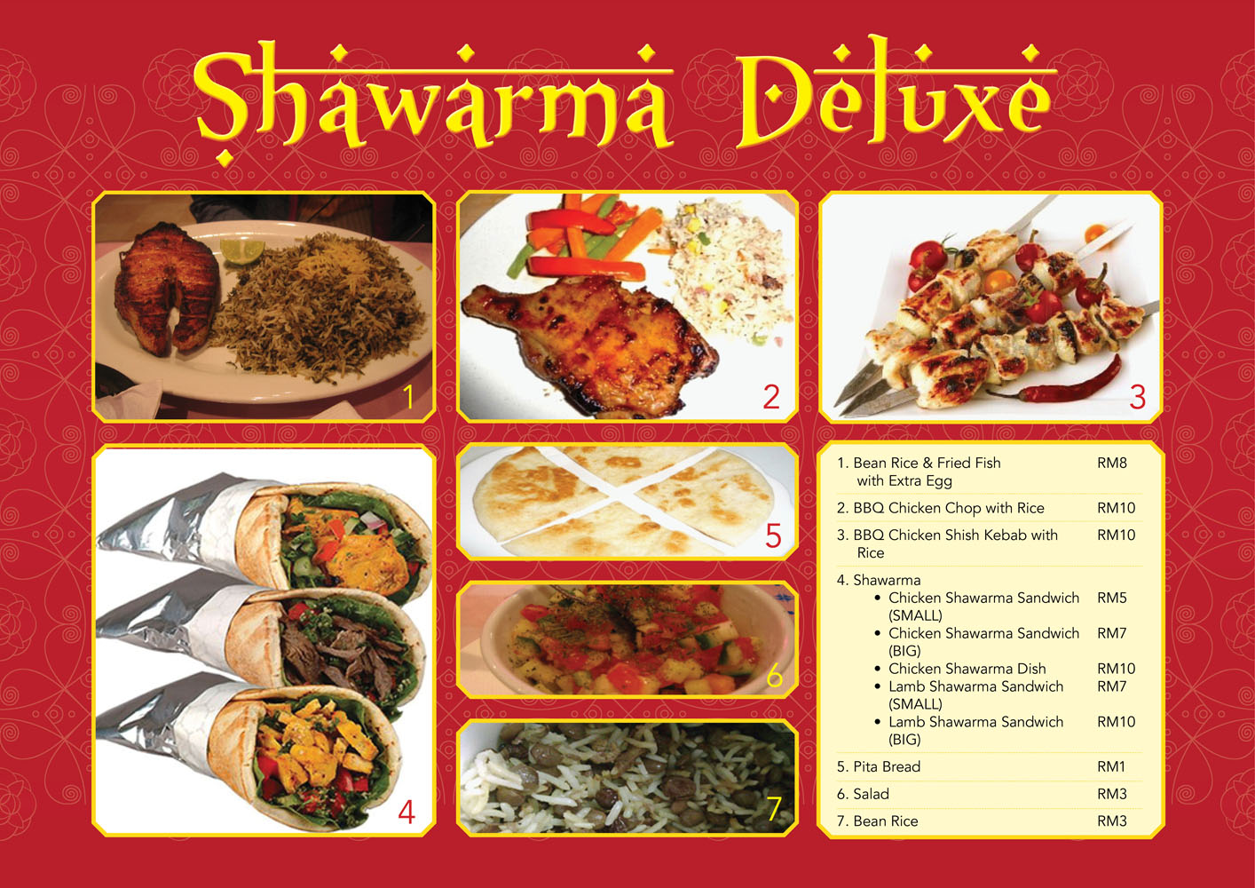 Empire State of Dreams: Shawarma Deluxe Menu
