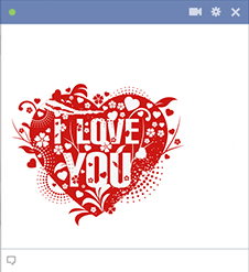 Pretty I love you heart icon for Facebook