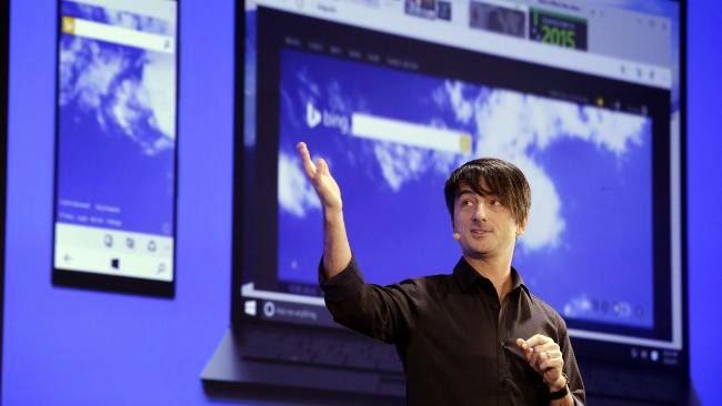 """Ο Joe Belfiore,της Microsoft υπεύθυνος για τα λειτουργικά συστήματα, που παρουσιάζει, μεταξύ άλλων, ένα νέο πρόγραμμα περιήγησης στο Internet, με την κωδική ονομασία """"Project Spartan"""""""