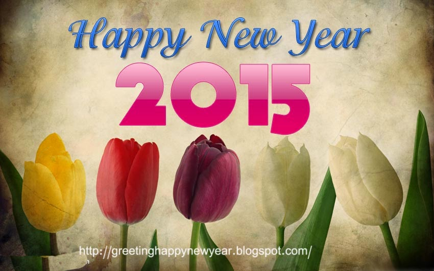 Happy New Year 2015 Rose Cards - Free Download