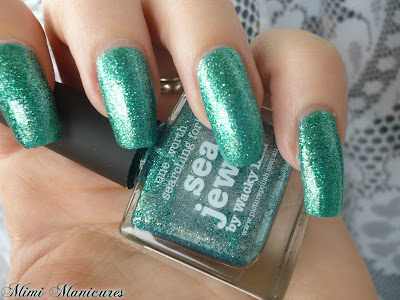 picture polish sea jewel green glitter