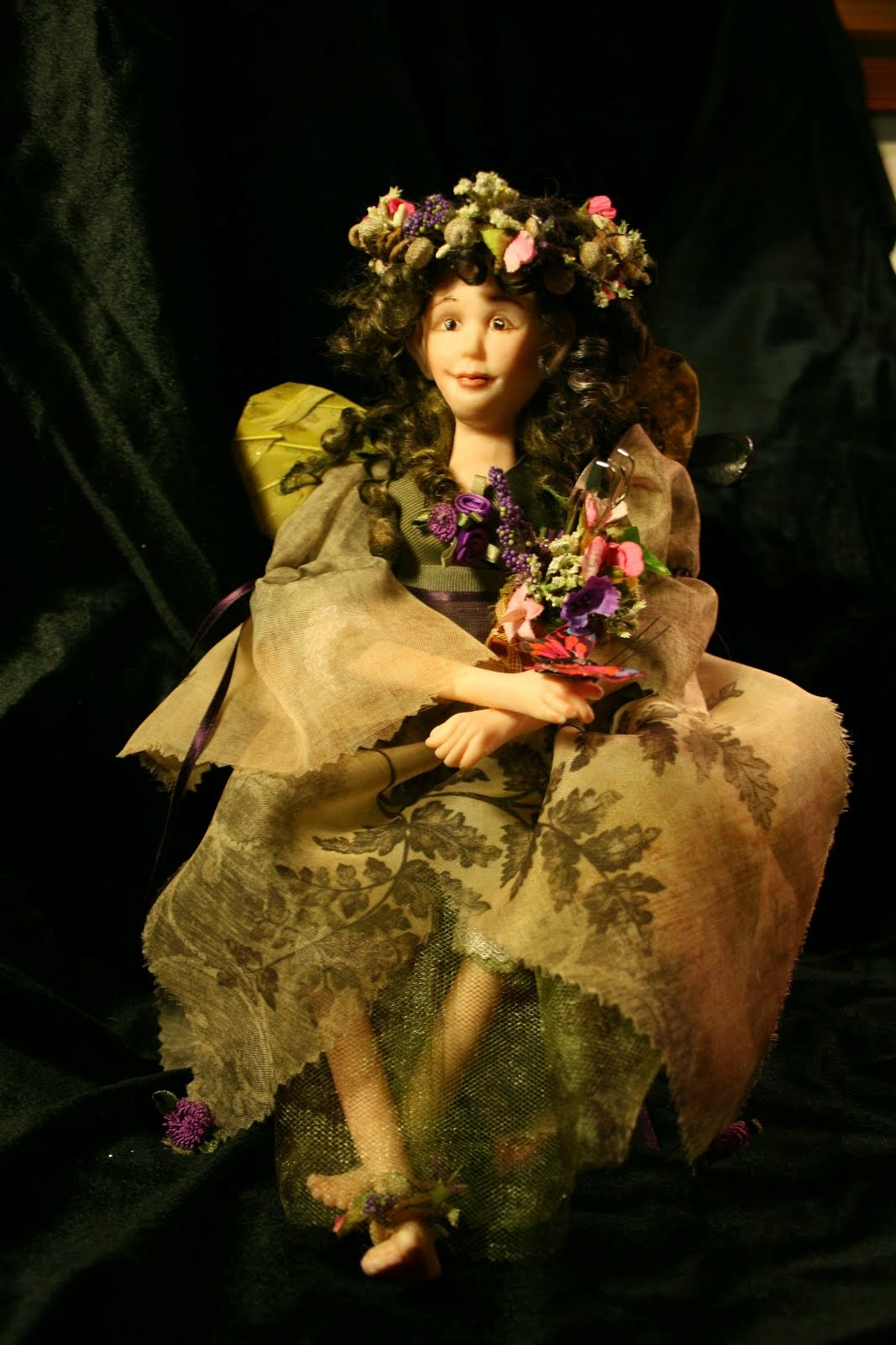 Poly clay Garden Fairy