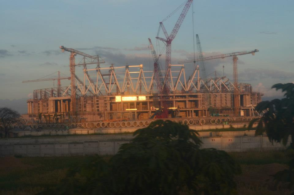 Left) Philippine Stadium and (Right) Philippine Arena