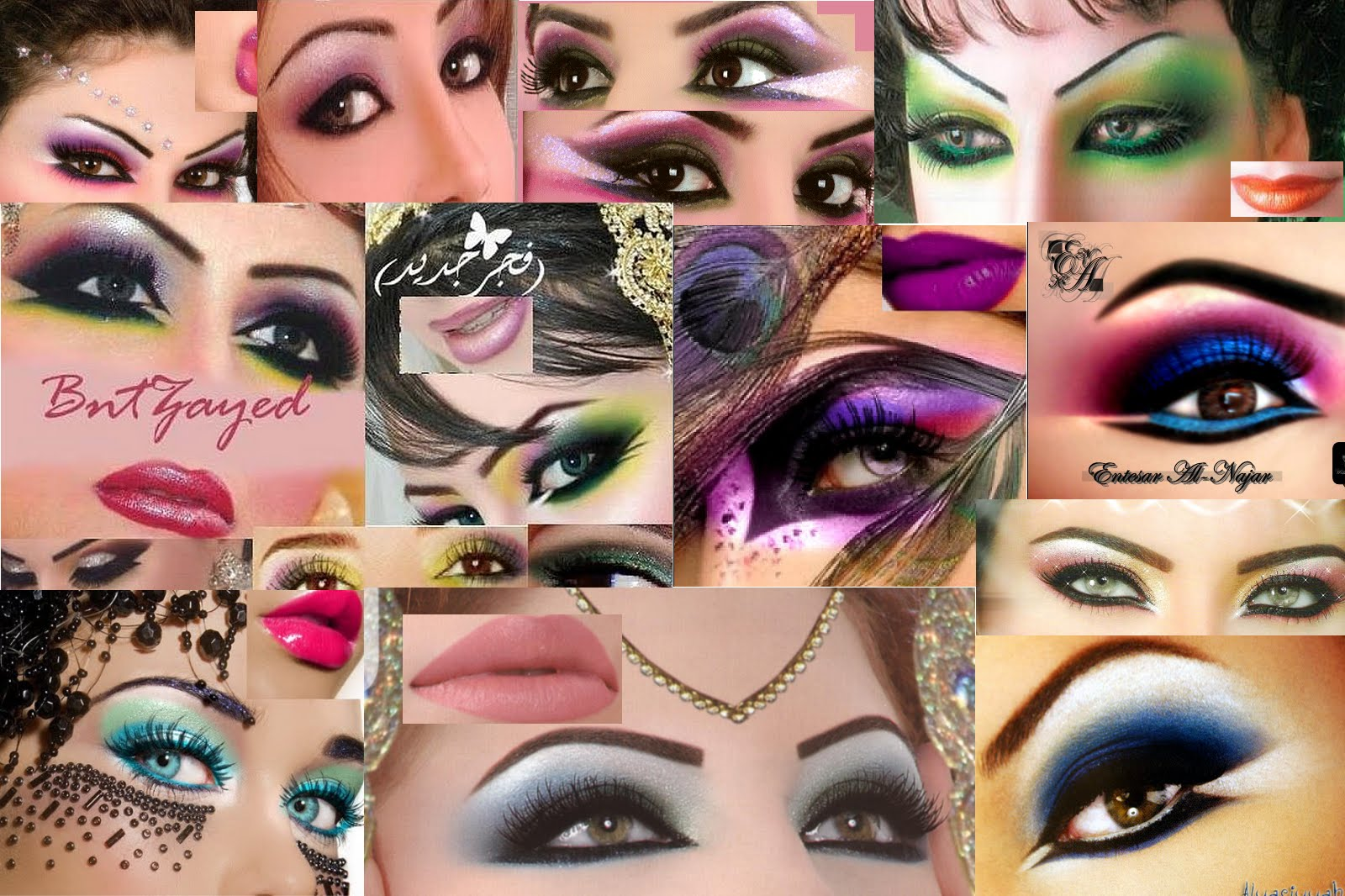 Love All Races: Arabic Makeup Wallpaper