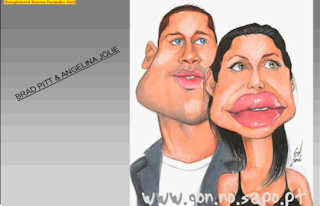 funny image bradpitt and angelina jollie